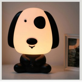 Pretty Cute Rabbit Dog Cartoon Animal LED Night Light Baby Room Sleeping Light Bedroom Desk Lamp Night Lamp Best for Gifts Smart Dog Black & White