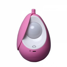 Portable USB Rechargeable Night Light Nursery Lamp Tumbler LED Soft Eye Care Lamp LED Nightlight with Touch Switch Charged White Pink
