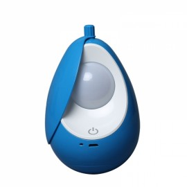 Portable USB Rechargeable Night Light Nursery Lamp Tumbler LED Soft Eye Care Lamp LED Nightlight with Touch Switch Charged Blue