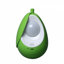 Portable USB Rechargeable Night Light Nursery Lamp Tumbler LED Soft Eye Care Lamp LED Nightlight with Touch Switch Charged Green