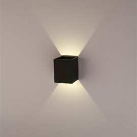 3W Black LED Square Wall Lamp Surface Install Light Fixture Warm White Light