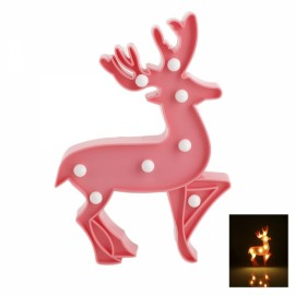 Cute Elk Shape LED Night Light Bedroom Party Home Decoration Pink