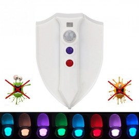Creative UV Sterilization Toilet Light Sensor RGB LED Night Light