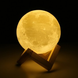 "7.09"" Touch Sensor 3D Printing Moon Lamp USB Color Changing LED Luna Night Light"