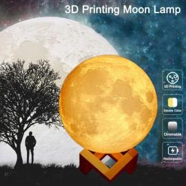 "5.91"" 3D Printing Moon Lamp USB Color Changing LED Luna Night Light"