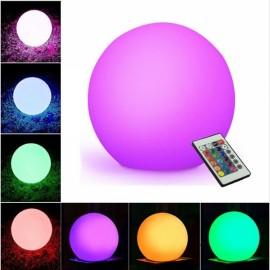 12cm LED Round Night Lights Waterproof Discoloration Ball Light