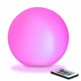 Outdoor Waterproof 8cm LED Glowing Ball Light 16 RGB Color Changing Light