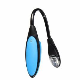 Portable Flexible Mini Clip On Book Bright White Reading Lamp Blue