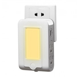 Portable LED Light Control Sensor Night Light (AC110V - 2.1A)