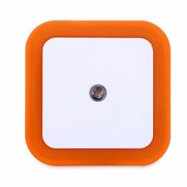 Square Shape Light Control Sensor Night Light Orange US Plug