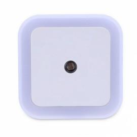 Square Shape Light Control Sensor Night Light White EU Plug