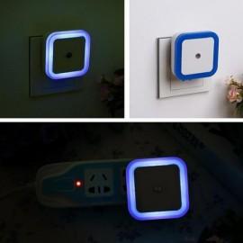 Square Shape Light Control Sensor Night Light Blue EU Plug