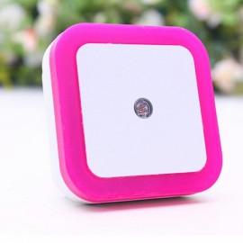 Square Shape Light Control Sensor Night Light Red EU Plug