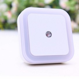 Square Shape Light Control Sensor Night Light White US Plug