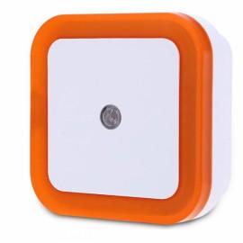 Square Shape Light Control Sensor Night Light Orange EU Plug