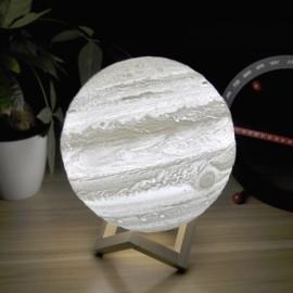 8cm 3D Rechargeable LED Desk Lamp Jupiter Light Remote Control 16 Colors