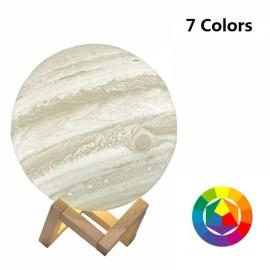 15cm 3D LED Desk Lamp Touch Control USB Rechargeable Jupiter Light 7 Colors Change