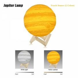 15cm 3D LED Desk Lamp 2 Colors Change Touch Control USB Rechargeable Jupiter Light