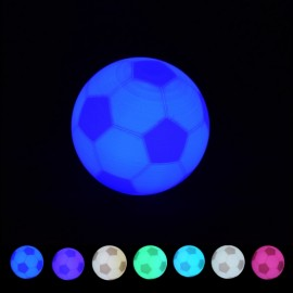 8cm Creative 3D Print Football LED Light 7 Colors Change Pat Switch World Cup Soccer USB Rechargeable Desk Lamp