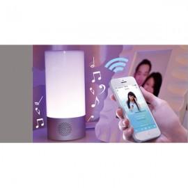WL-32B Smart 3 Modes Bluetooth Speaker RGB Light LED Table Lamp White & Silver