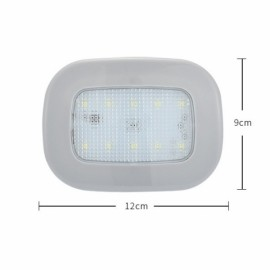 Car Reading Light Auto USB Charging Roof Magnet Auto Day Light Trunk Day Time Interior Square Dome Vehicle Indoor Ceiling Lamp Gray Shell Ice Blue Light