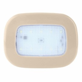 Car Reading Light Auto USB Charging Roof Magnet Auto Day Light Trunk Day Time Interior Square Dome Vehicle Indoor Ceiling Lamp Beige Shell White Light