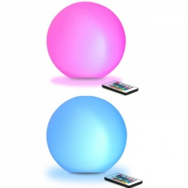 2pcs 8cm Ultra-fun LED Glowing Ball Light 16 RGB Color Changing Lamp