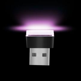USB LED Car Interior Atmosphere Light Feet Lamp Illumination Decoration Light - Purple
