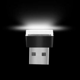 USB LED Car Interior Atmosphere Light Feet Lamp Illumination Decoration Light - White