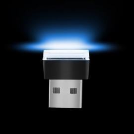 USB LED Car Interior Atmosphere Light Feet Lamp Illumination Decoration Light - Blue