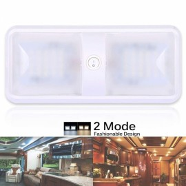 2 Color Mode LED RV Ceiling Dome Light- Warm White Light