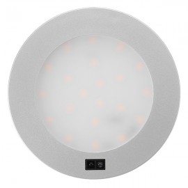 3W 21 LED Round Ultra Thin Hand Sweep Sensor Closet Cabinet Light Warm White Light
