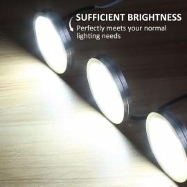 LED Under Cabinet Lighting Kit 750lm Puck Lights Under Counter Lighting Kitchen Closet Light Set of 3 - Cool White EU Plug