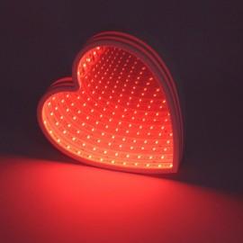 3D LED Tunnel Lamp Infinity Mirror Night Light- Love