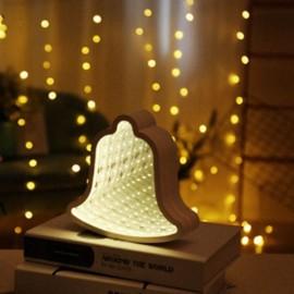3D LED Tunnel Lamp Infinity Mirror Night Light- Bell