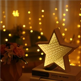 3D LED Tunnel Lamp Infinity Mirror Night Light - Pentagram