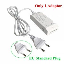 6 Wire Connection Port Power Adaptor for Cabinet Light- EU Plug
