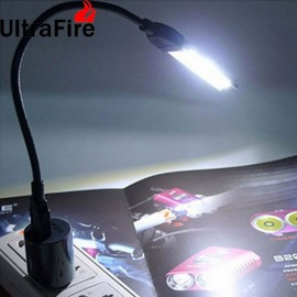 UltraFire 3W 15-LED 5050SMD 6500K White Light Bar with USB Adapter White & Silver & Multicolor