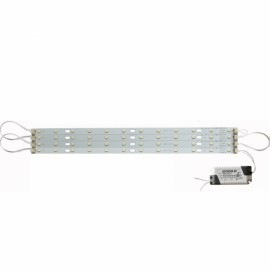 30cm 24W 5730 LED Bar Strip Light w/ Power Driver + Magnetic Holder White Light