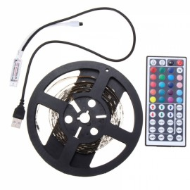 2M DC 5V RGB LED Strip Light Waterproof w/ 44 key Controller