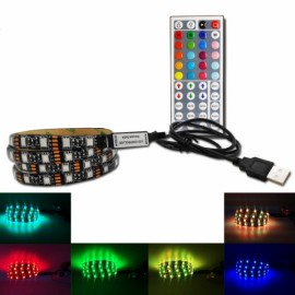 1M DC 5V RGB LED Strip Light Waterproof w/ 44 key Controller