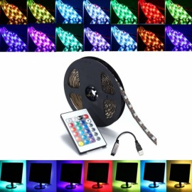 5M DC 5V RGB LED Strip Light Waterproof w/ 24 key Controller