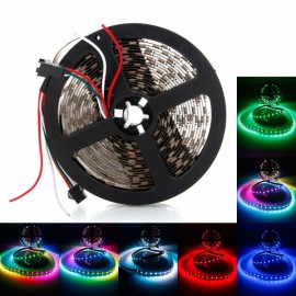WS2812B 300-LED SMD5050 RGB Non-watertight Flexible LED Light Strip Black PCB (5V)