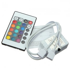 24 Key IR Remote Controller for DC 12V RGB LED Light Strip