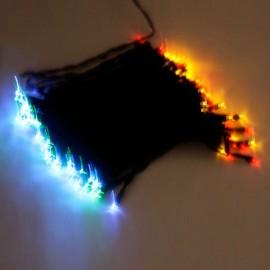 100 LED Solar Neon Light RGB String Lamp Festival Deco