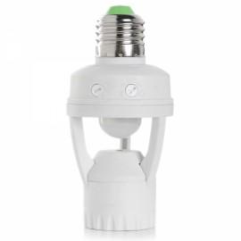 Cwxuan E27 Infrared Motion Sensor LED Lamp Holder White (AC110-220V)