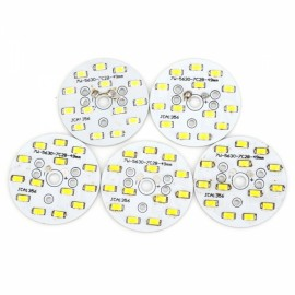 5pcs QP-7W 700LM 6000K 14-5730SMD LED White Light Bulb Down Lamp Source Module White