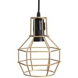 E27 Edison Vintage Pendant Metal Cage Ceiling Light Lamp Golden
