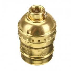 Holder E27 Edison Socket Retro Pendant Lamp without Wire Golden