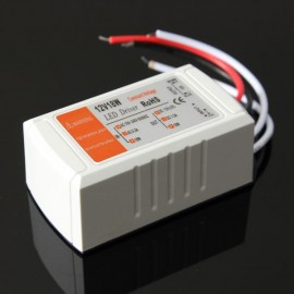 12V DC 18W LED Driver Adapter Transformer Switch for LED Strip/Light Bulb (AC110-220V)